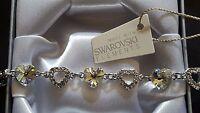 Genuine Swarovski Elements Gift Boxed Bracelet - Light Gold Crystal - £35!