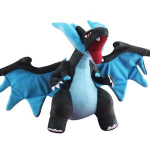 "10"" Mega Shiny Charizard X Y Plush Rizadon Dragon Stuffed Toy POKEMON Soft Doll"