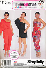 2015 simplicity Sewing Pattern 1115 Misses 6-14 Mimi Style Long Short Jumpsuit