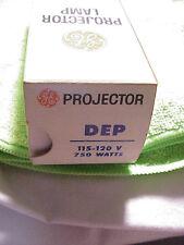 General Electric DEP Gold Top Projector Bulb 750W | 120V | NOS |Top Quality