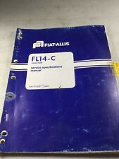 Fiat Allis Fl14c Crawler Loader Service Specifications Manual