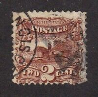 United States stamp #124, used, no grill, SCV $750.00