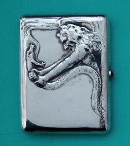 Russia  art nouveau  silver  cigarette case