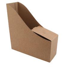 Pack File Magazine Holder, Desk Storage Organizer for Office Home Kraft Paper Ji