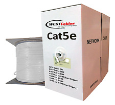 1000FT CAT5E PLENUM CABLE SOLID CONDUCTOR   WHITE