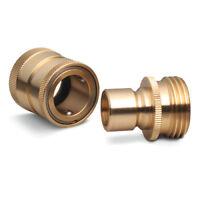 USA Garden Hose Brass Quick Connect Disconnect 2-Piece Brass Quick Connector USA