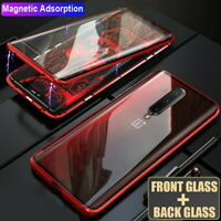 For OnePlus 8 7 7T Pro 360° Magnetic Adsorption Double Sided Tempered Glass Case