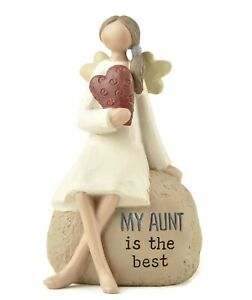 Heaven Sends. My Aunt is the best - Angel Ornament Pebble Decoration #PHD266E