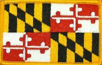 MARYLAND STATE FLAG Embroidered Iron-On PATCH EMBLEM Gold Border #1