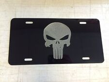 Punisher Car Tag Diamond Etched on Aluminum License Plate