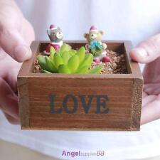 Wooden Rectangle Plant Storage Box Pot for Garden Flower Herb Planter Succulent