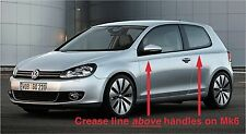 VW Golf Mk6 (09-12) 2 Door Upper & Lower Stainless Sill Protectors / Kick Plates