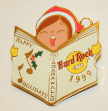 Hard Rock Cafe Collectors Pin Niagara Falls Happy Holidays Caroler New LE 1999