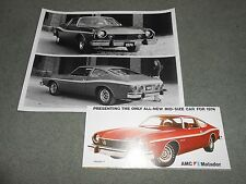 1974 AMC MATADOR COUPE ORIGINAL BROCHURE / 74 CATALOG + 8 x 10 PRESS PHOTO 2-4-1
