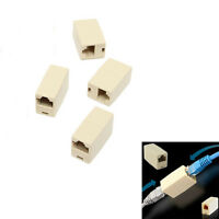 4Pcs Cable Joiner RJ45 Adapter Network Ethernet Lan Coupler Connector CAT Plug