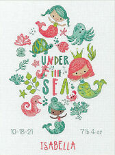 Counted Cross Stitch Kit ~ Dimensions Under the Sea Birth Record #70-76164