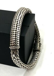 John Hardy Sterling Silver Dot Station Tiga Chain Bracelet