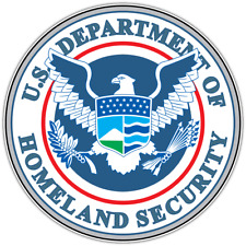 US Department of Homeland Security Seal Car Bumper Vinyl Sticker Decal 4.6""