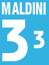 Italy Maldini Nameset 2000 Shirt Soccer Number Letter Heat Print Football Home