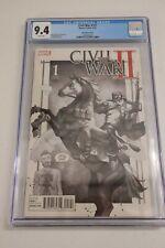 Civil War II #1 GwenPool B/W Sketch Variant - Yasmine Putri Cover - CGC 9.4 NM-