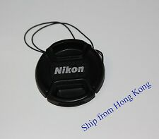 52mm Front lens cap Center-pinch leash for Nikon