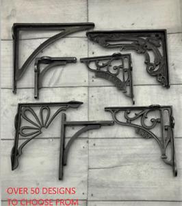 CAST IRON SHELF BRACKETS /HUGE SELECTION - Antique Vintage -OVER 50 DESIGNS