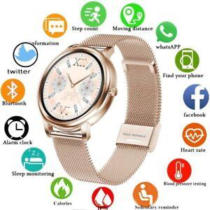 Bluetooth Smartwatch Wasserdicht Blutdruck Monitor Fitness Tracker Damen Frauen