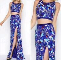 Mac Duggal Cassandra Stone 2 Pc Empire Waist Dress Sz 4 (Retail $498)