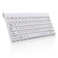 Mini Slim 78 Key USB Wired Compact Thin Keyboard for Desktop Laptop Mac PC EB