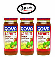 3 Pack Goya Sofrito tomato 12 oz New (Pack of 3) Free shipping - Best Selling