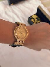 Authentic Gianni Versace Signature Medusa Gold Plated Women's Watch