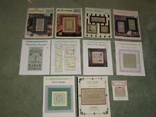 """LOT of 10 ELIZABETH'S DESIGNS """"SAMPLERS"""" Cross Stitch Leaflets RARE OOP"""