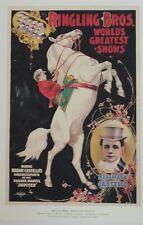 Vintage Circus Advertising Poster Lithograph Ringling Bros Madam Castello 2002