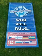 2004 World Cup of Hockey NHL Tournament Country Flags Banner 82 x 42