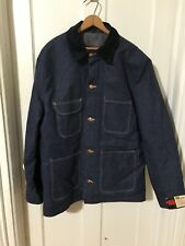 NOS NWT Vintage BLUE BELL BIG BEN Lined DENIM CHORE JACKET WORK COAT Size 44