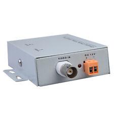 Coaxial Cable BNC Video Balun Signal Amplifier Booster CCTV Security Camera 12V