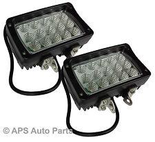 2 x 45W 15 LED Work Light Lamp Flood Beam Jeep Tractor 4X4 Truck Bright 12v 24v