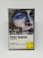 PETER GABRIEL PLAYS LIVE Cassette Tape Album Vintage 2G5-4012 GEFFEN NEW