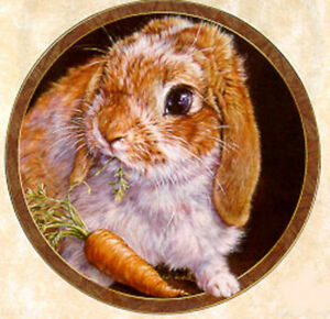 Bunny Tales Collection, by Vivi Crandall, Bradford Exchange Plate, Carrot Top