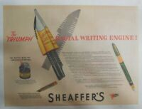 "Sheaffer's  Pen Ad:  Sheaffer's The ""Triumph"" Pen from 1944 Size: 11 x 15 inches"