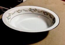 "Noritake Lenore deep oval 10"" vegetable bowl"