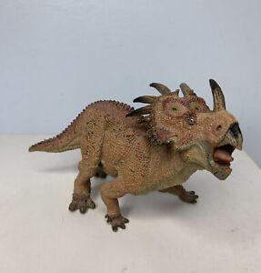 Papo Styracosaurus Action Figure Prehistoric Collectible Ceratopsian Dino 2010