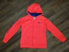 Under Armour Girls Jacket, Youth Xl, Neon Coral Pink