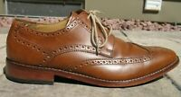 Cole Haan Brown Leather Brogue Wingtip Formal Dress Shoes Mens 9 M