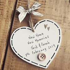 Personalised New Home Housewarming Gift First Plaque Sign Moving Memories House