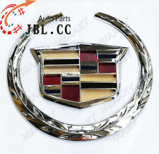 "6"" Cadillac Front Grille Emblem Hood Badge Logo Chrome Color Symbol New Ornament"