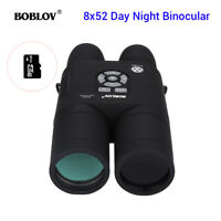 16GB 8x52 Optical Infrared Night Vision Binocular Telescope 2592*1440 fr Hunting