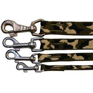 Camouflage Green PUPPY DOG LEAD Nylon Webbing 120cm long