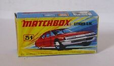 Repro Box Matchbox Superfast Nr.51 Citroen SM