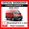OFFICIAL WORKSHOP Manual Service Repair  Citroen Jumper II 2006 - 2015